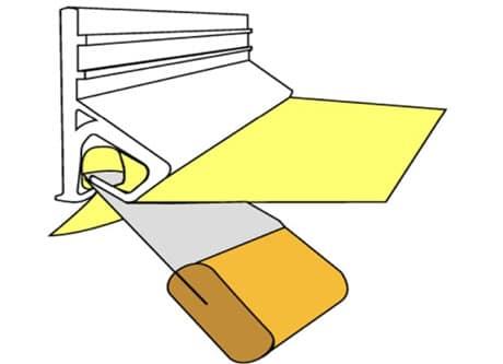 Крепежный механизм для натяжного потолка