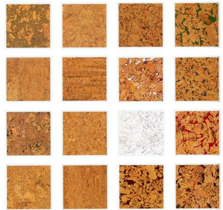 Виды пробкового покрытия