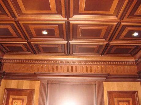 Кессоны в отделке потолка