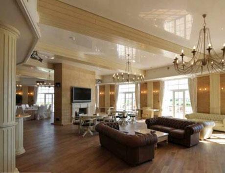 Комбинированный натяжной и панельный потолок