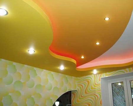 Система освещения потолка