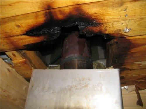 Подпаленный потолок