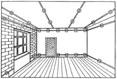 Схема установи маяков