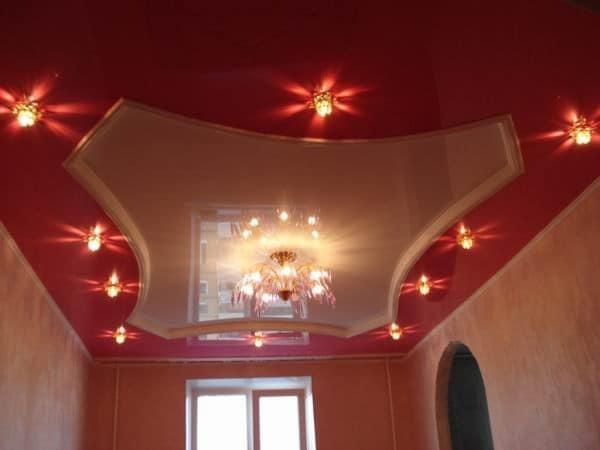 Расположение светильников в гостевой зоне