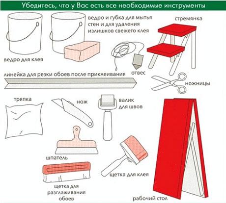 Инструменты для оклеечных работ