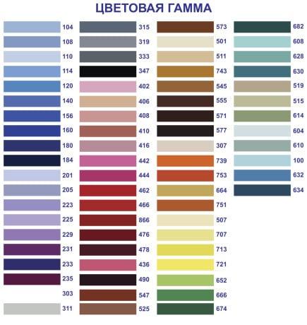 цветовая гамма для потолка
