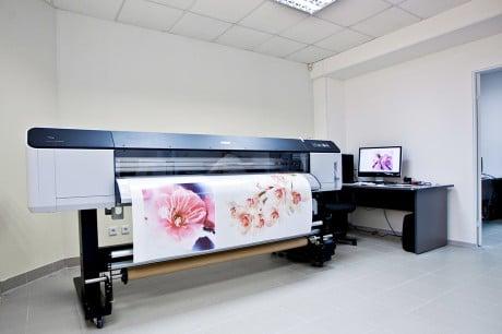 полотно печатается на принтере