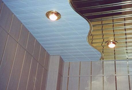 Комбинированный реечный потолок