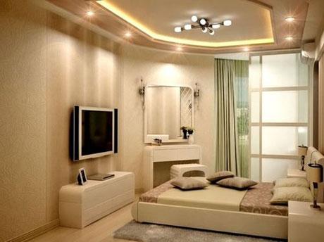 Дизайн потолка из гипсокартона с подсветкой