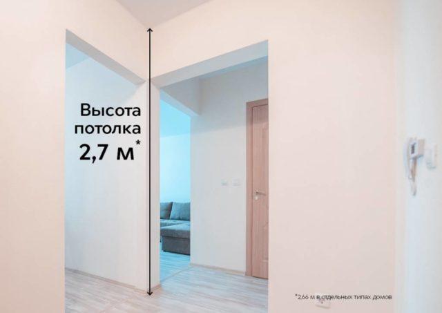 Минимальная высота потолка в жилых комнатах