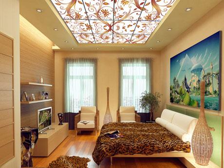 Декоративный потолок из акрилового стекла