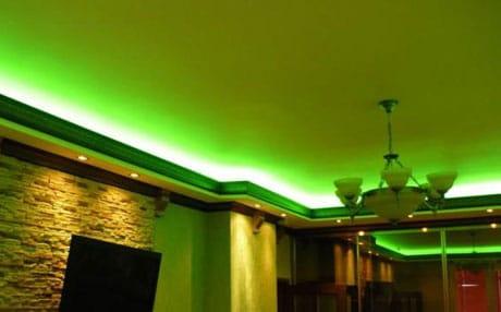 Полупрозрачный потолок с подсветкой