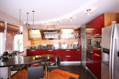 Пример зонирования кухни