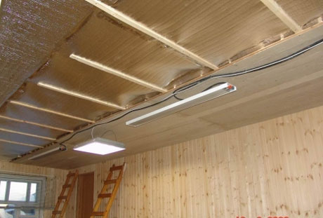 Фольгированные материалы в утеплении потолка