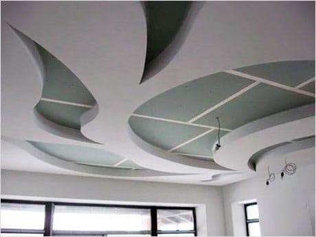 Фигурный подвесной потолок