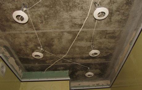 Разметка потолочных светильников