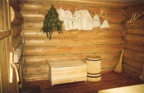 Русская бревенчатая баня