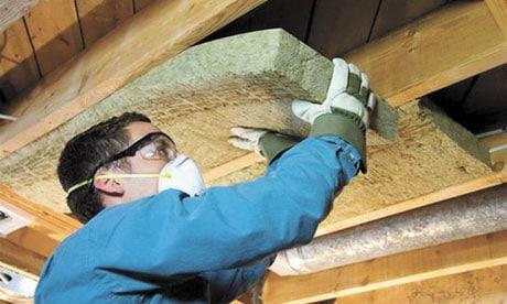 Утепление потолка бани плитами из минваты