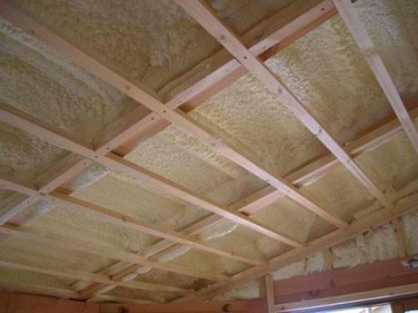 Потолок после утепления