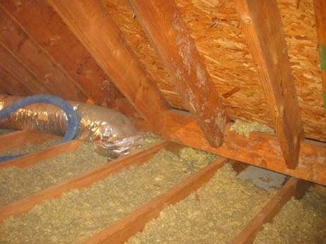 Подшивной потолок бани