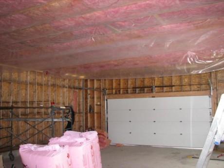утепленный потолок в гараже