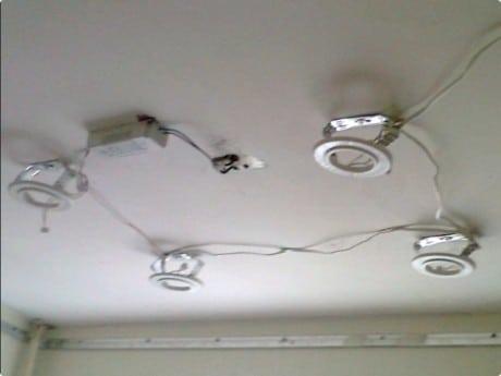 подключения светильников