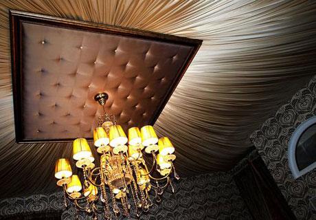 Тканевый потолок в стиле арт деко