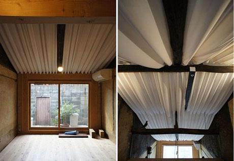 Съемное тканевое оформление потолка
