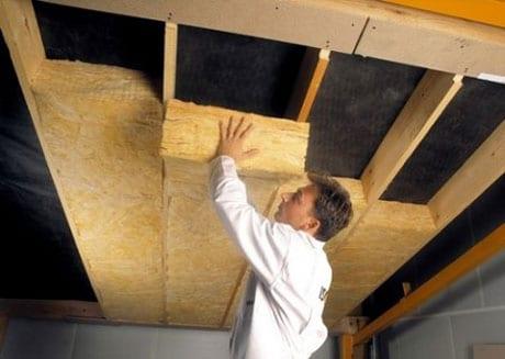 Утепление подвесного потолка