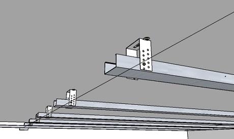 Выравнивание профиля для подвесного потолка