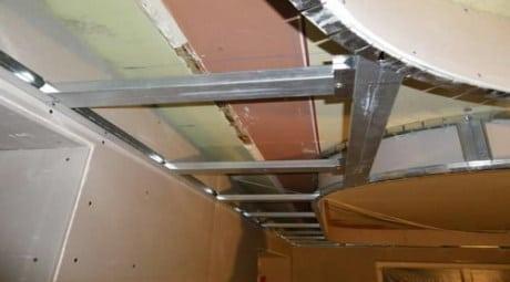 Единый каркас для двухуровневого потолка