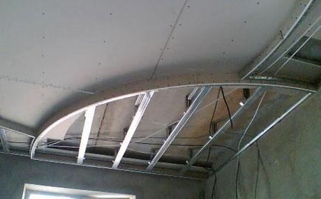 Металлокаркас для потолка из гипсокартона
