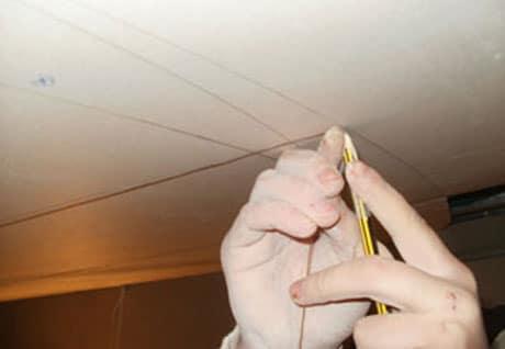 Разметка полукруга для фигурного гипсокартонного потолка
