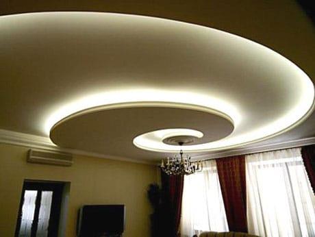 Гипсокартоновый потолок с LED подсветкой