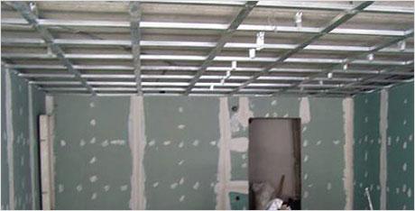 Готовый каркас для потолка из гипсокартона