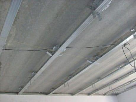 Определение провисов потолка