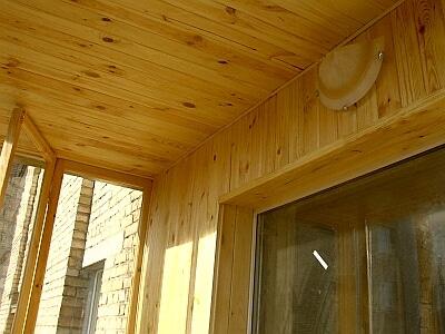 Вагонка на потолке лоджии
