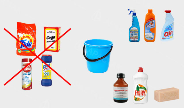 Средства для мытья натяжных потолков