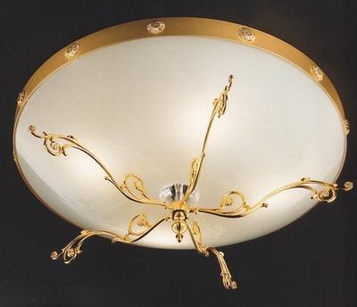 потолочный светильник с матовым стеклянным плафоном