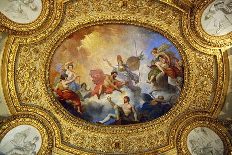 Роспись потолка в Лувре