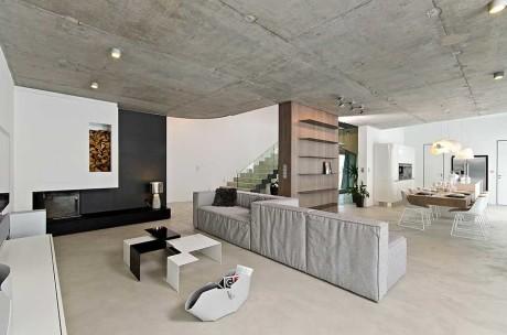 бетонный потолок без отделки