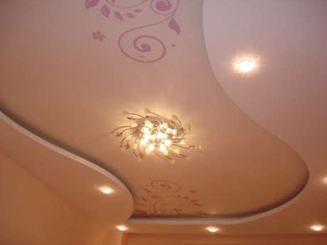 Потолок после заделки швов