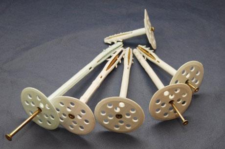 Грибки-дюбеля для крепления изолирующего материала